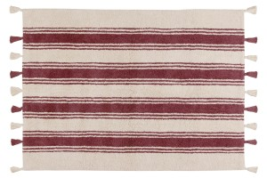 Lorena Canals Dywan Stripes   Marsala